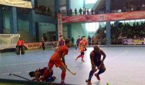 tim hockey putra Papua saat berlaga