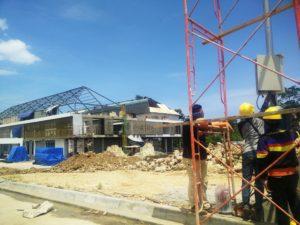 Pengerjaan PLBN RI-PNG. Foto Diambil beberapa waktu lalu