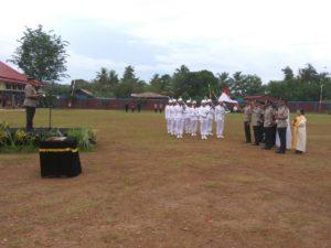 Suasana pelantikan sisa SPN Jayapura menjadi Brigpol